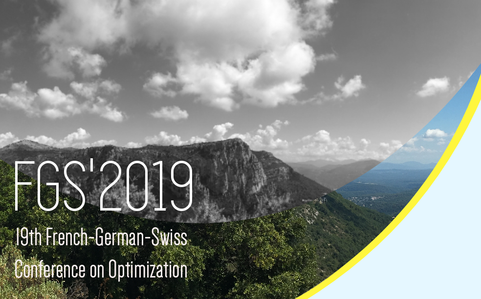 FGS'2019: 19th French-German-Swiss Conference on Optimization, Nizza