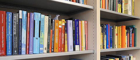 Shelf with reference books