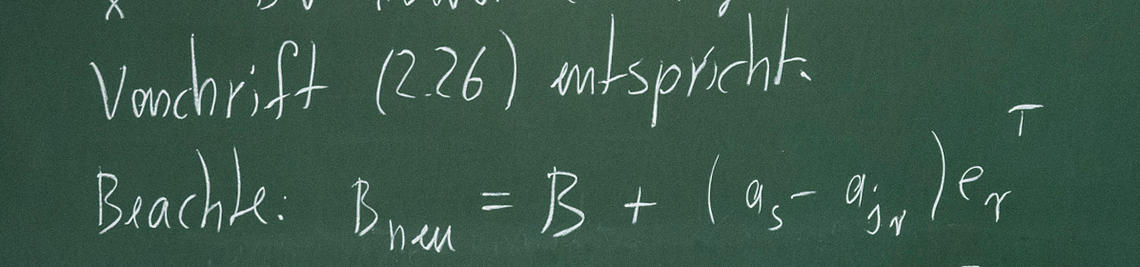 Mathematical formula on a blackboard
