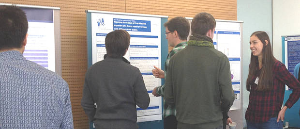Diskussion bei Postersession