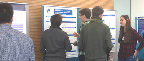 Discussion during a postersession