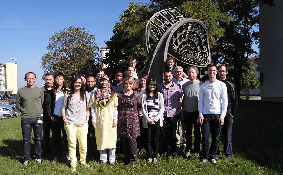 "Participants of the Mini-Workshop on ""Numerical Mathematics and Applications"" 2014 in Würzburg"