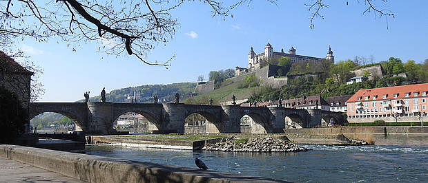 View of fortress Marienberg and Alte Mainbrücke