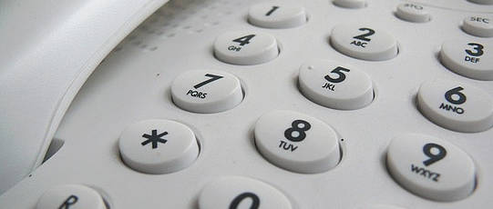 Number pad of a telephone