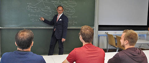 Lecture at the university of Würzburg