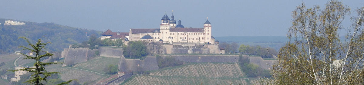 View of fortress Marienberg in Würzburg